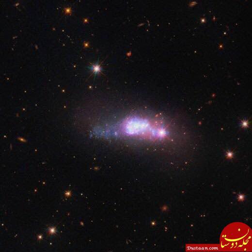 www.dustaan.com تصویر هابل از یک کهکشان کوتوله +عکس