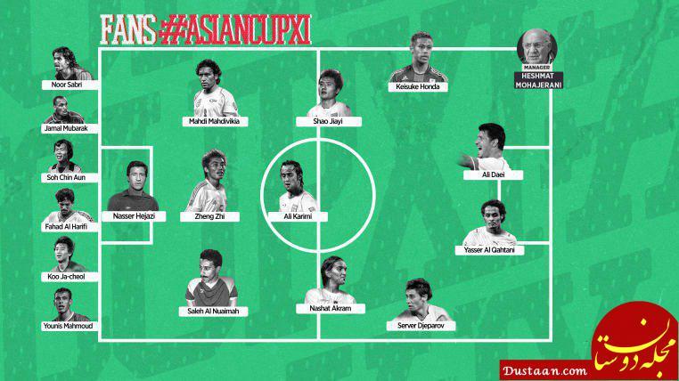 www.dustaan.com ۵ ایرانی در تیم منتخب تاریخ جام ملت های آسیا +عکس