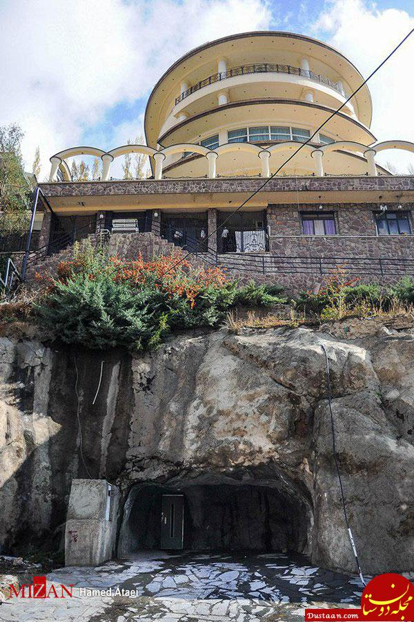 عکس: حفر کوه برای نصب آسانسور در ویلا!