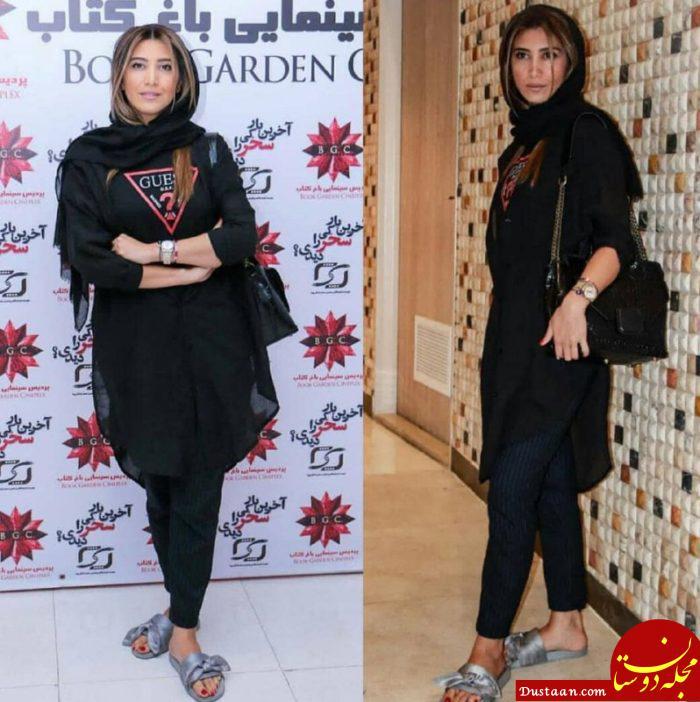 www.dustaan.com نیکی مظفری با دمپایی در یک مراسم رسمی! +عکس