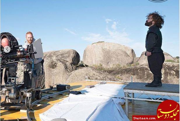 www.dustaan.com عکس های دیدنی از پشت صحنه «بازی تاج و تخت»