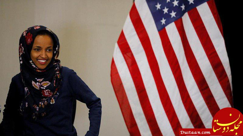 www.dustaan.com حضور جنجالی زن محجبه در مجلس نمایندگان آمریکا +عکس