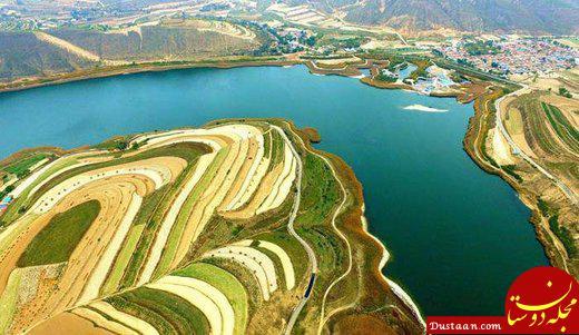 www.dustaan.com دریاچه ای زیبا که در پی زلزله شکل گرفت! +عکس