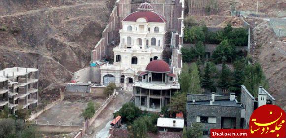 www.dustaan.com کوهی که از بین رفت و ویلایی که ساخته شد! +عکس