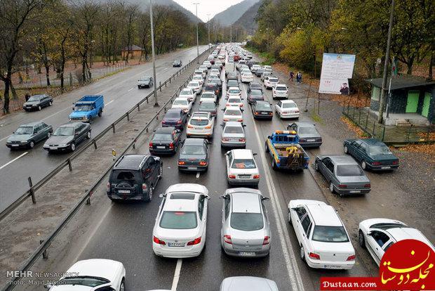 www.dustaan.com آخرین وضعیت ترافیکی جاده ها/ جمعه 18 آبان