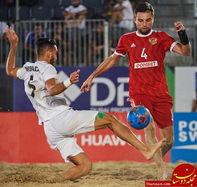 www.dustaan.com قهرمانی فوتبال ساحلی ایران با پیروزی برابر روسیه
