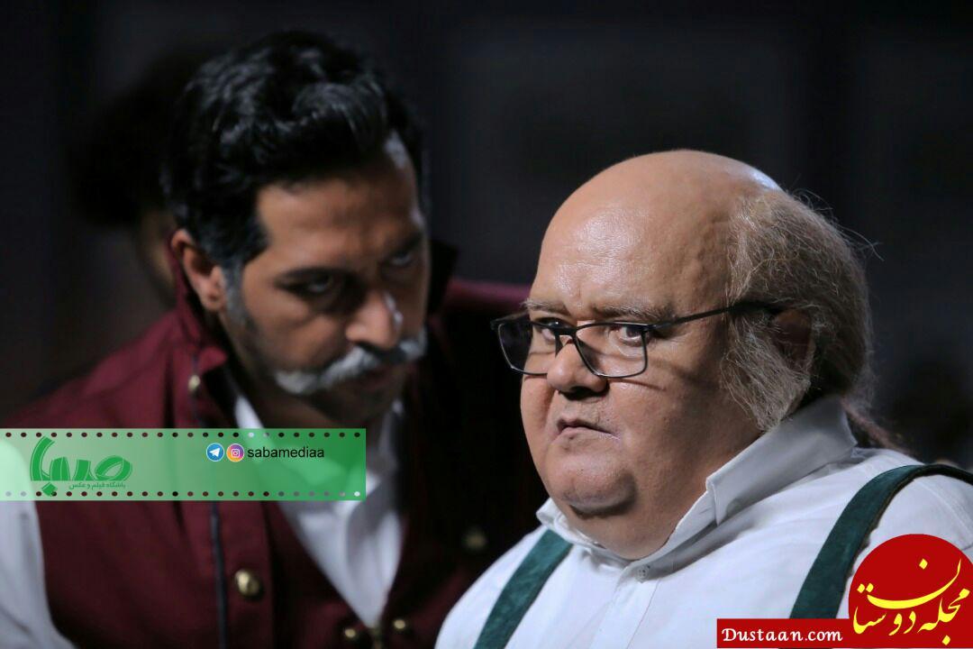 www.dustaan.com گریم دیدنی بهنوش بختیاری و اکبر عبدی در «تورنادو» +تصاویر
