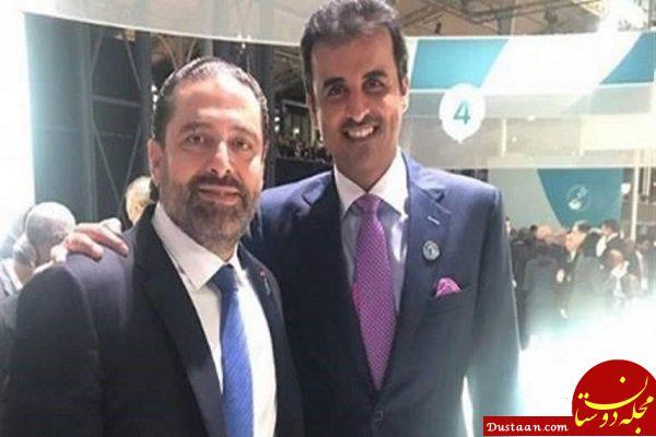 سلفی جنجالی حریری و امیر قطر در پاریس +عکس