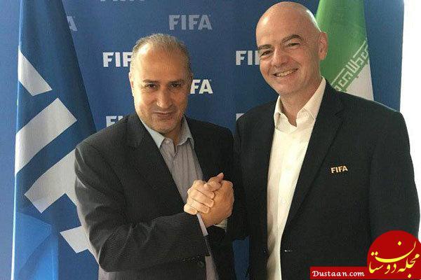 www.dustaan.com 2 میلیون دلار هدیه رئیس فیفا به تاج صحت دارد؟