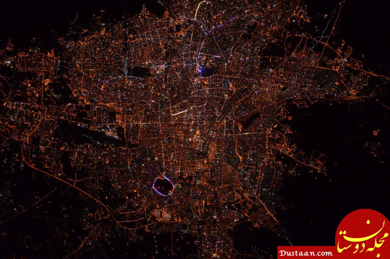 www.dustaan.com تصویری از تهران که توسط فضانورد آمریکایی گرفته شد