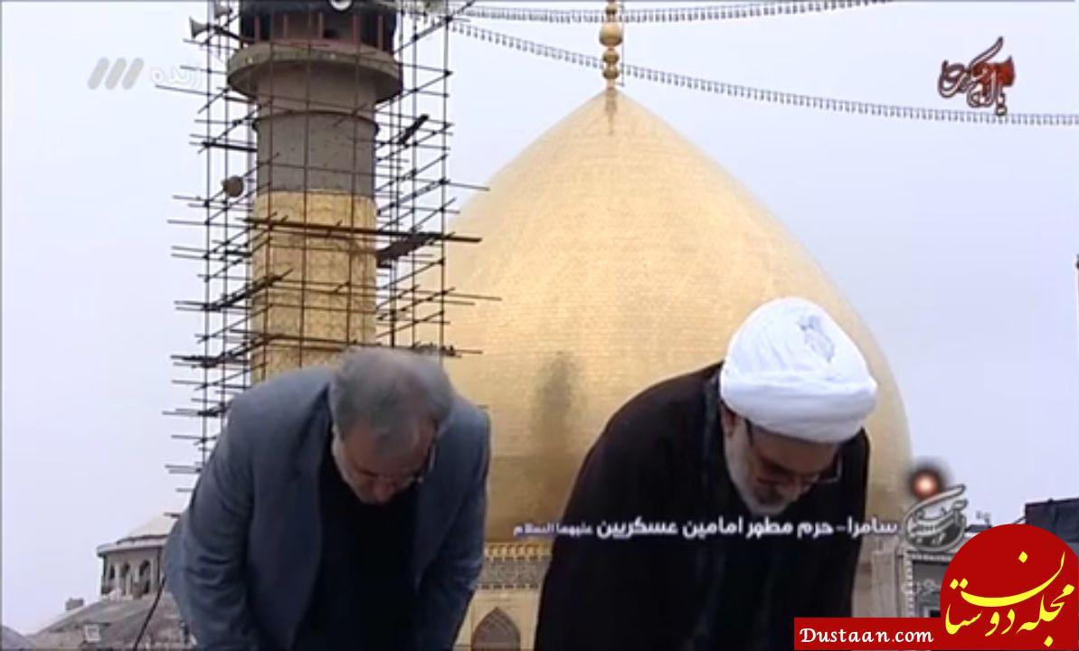 www.dustaan.com اقامه نماز جماعت در برنامه زنده تلویزیون +تصاویر