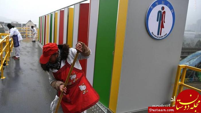 پل عابر پیاده مجهز به سرویس بهداشتی! +عکس