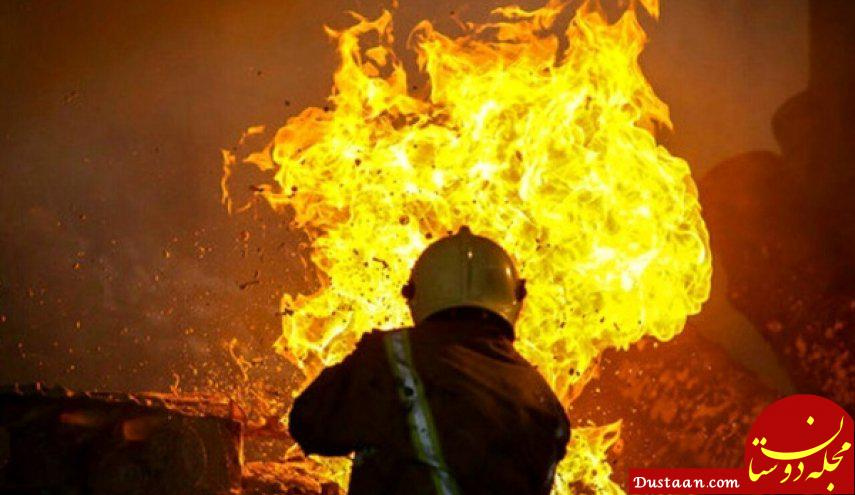 www.dustaan.com آتش سوزی گسترده در بازار مولوی