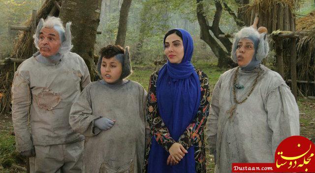 www.dustaan.com لیلا اوتادی در کنار موجوداتی عجیب! +عکس