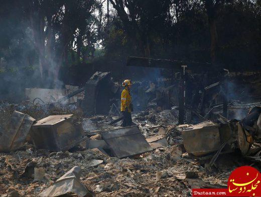 www.dustaan.com تصاویری دردناک و تلخ از آتش سوزی کالیفرنیا