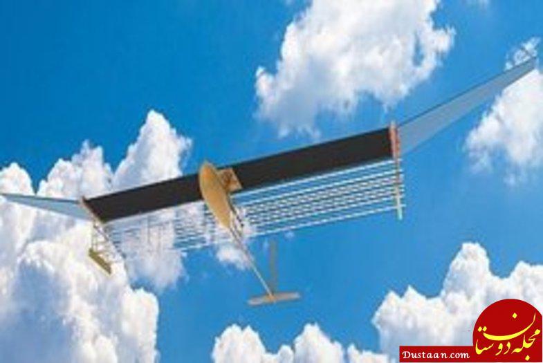 www.dustaan.com این هواپیما به کمک باد پرواز می کند! +عکس