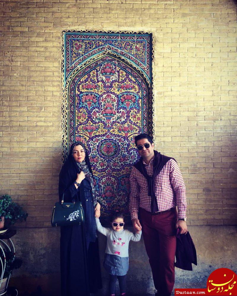 شیرازگردی آزاده نامداری ،همسر و دخترش +عکس