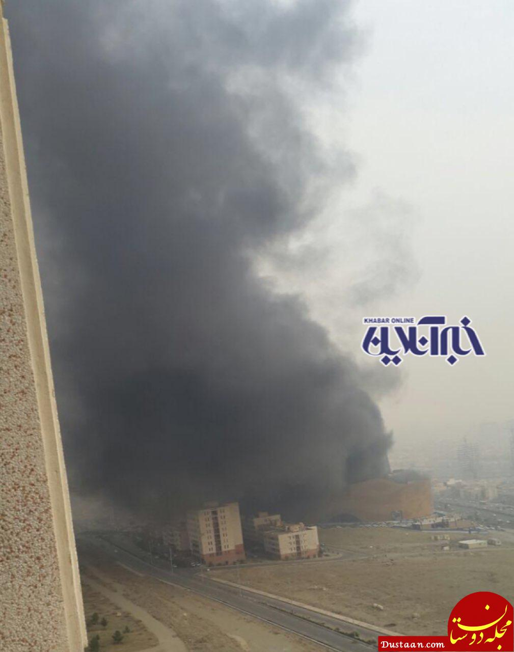 www.dustaan.com 50 نفر در آتش  سوزی, در  مجموعه,  رزمال,  گرفتار, شده اند