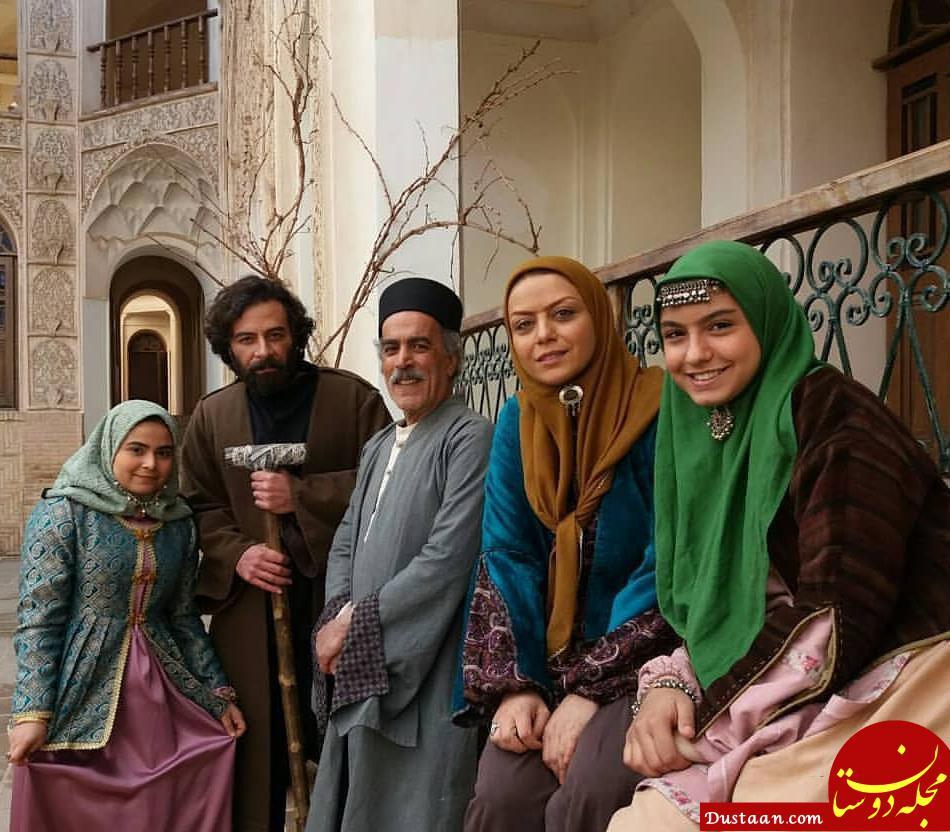 نیکی نصیریان و شبنم فرشادجو در پشت صحنه سریال بانوی عمارت