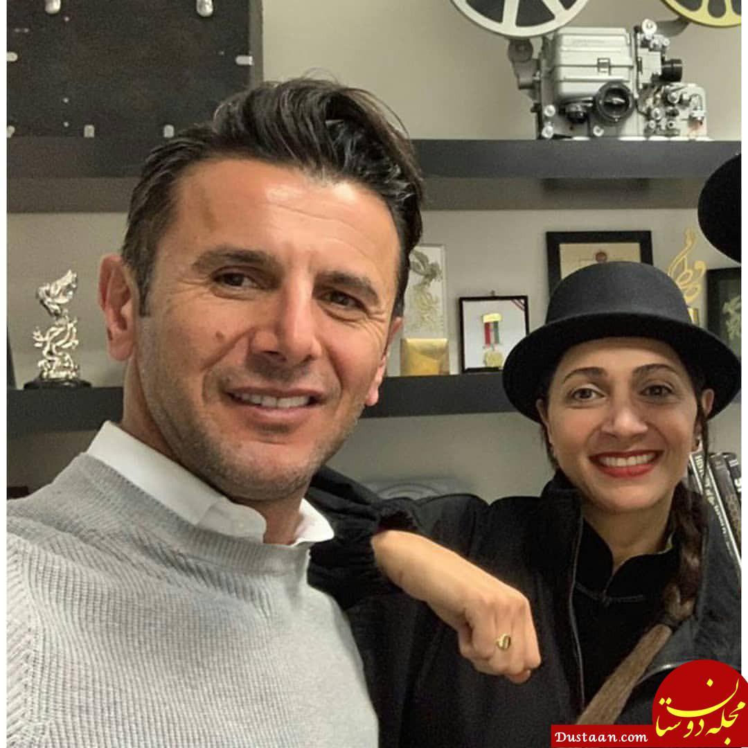 www.dustaan.com - سلفی دیدنی امین حیایی و همسرش نیلوفر خوش خلق +عکس