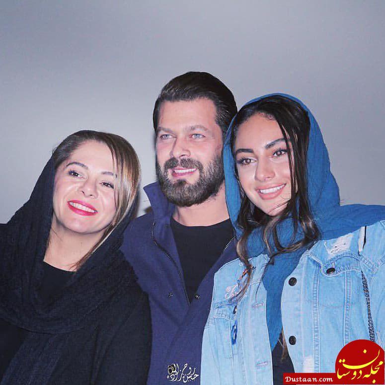 پژمان بازغی و همسرش در کنار ترلان پروانه +عکس