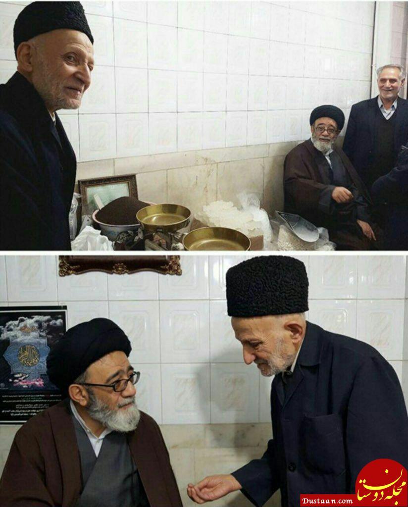 www.dustaan.com حضور امام جمعه تبریز در مغازه کاسب با انصاف تبریزی و قدردانی از او +عکس