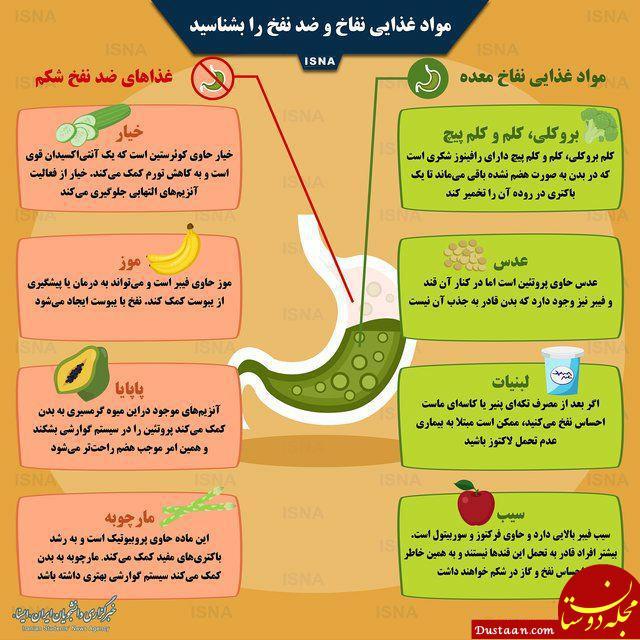 www.dustaan.com مواد غذایی نفاخ و ضد نفخ را بشناسید