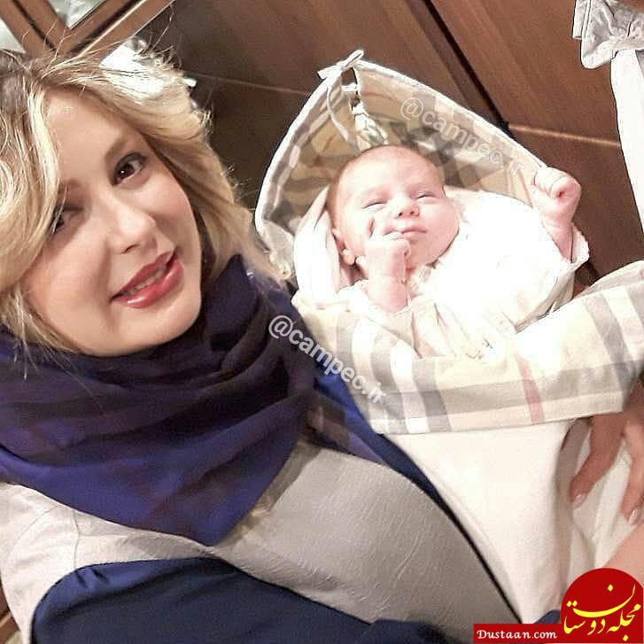 www.dustaan.com نیوشا ضیغمی و دخترش لنا در یک قاب