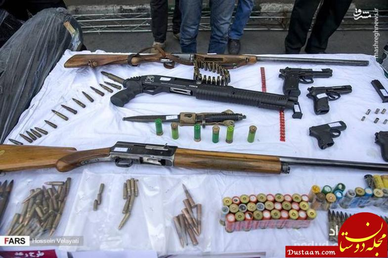 www.dustaan.com سلاح هایی که از سارقان تهران کشف شد +عکس