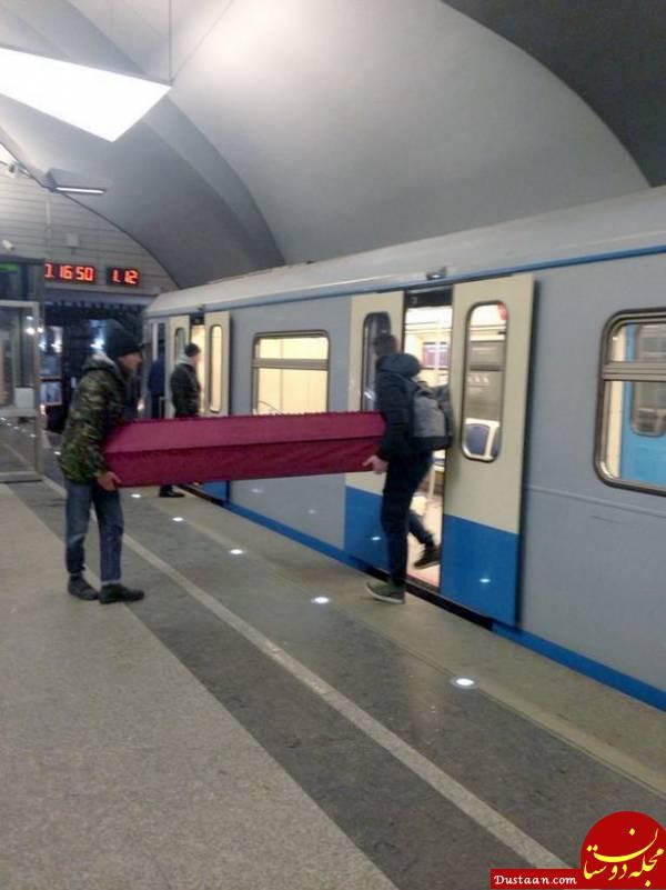 www.dustaan.com جنجال حمل تابوت با مترو! +تصاویر