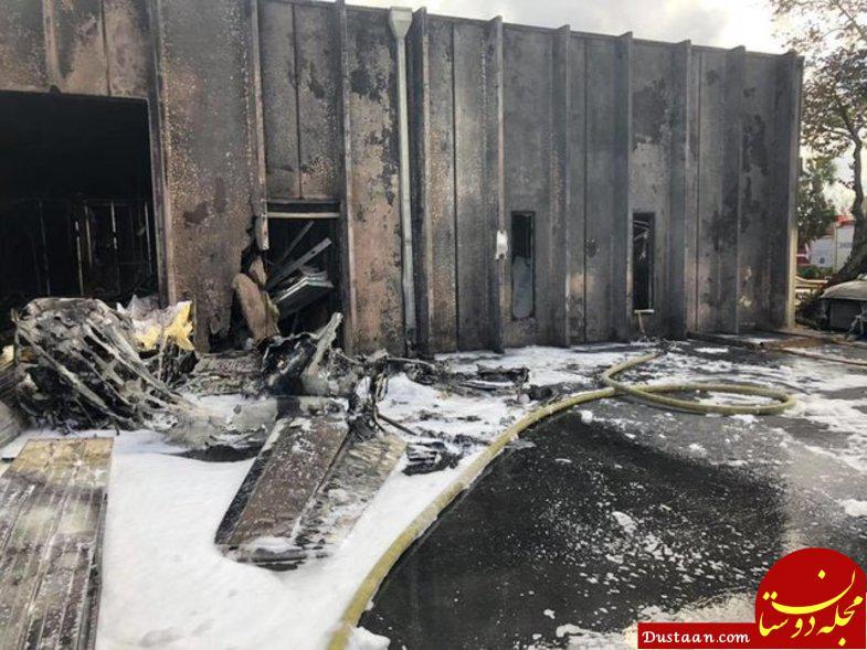 www.dustaan.com برخورد هواپیما به ساختمان کودکان مبتلا به اوتیسم در آمریکا +عکس