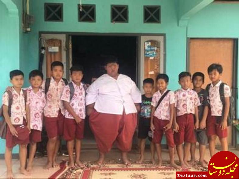 www.dustaan.com نوجوان 14 ساله به 237 کیلو وزن! +عکس