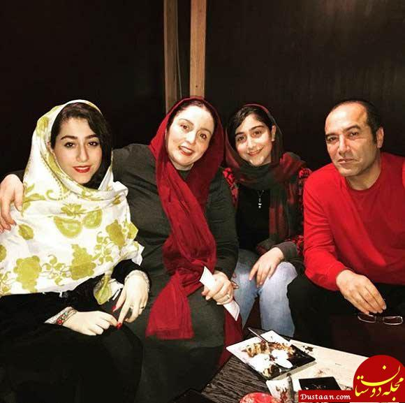 www.dustaan.com ژاله صامتی ، همسرش ایرج سنجری و دخترانش یاس و نیاز + بیوگرافی و عکس