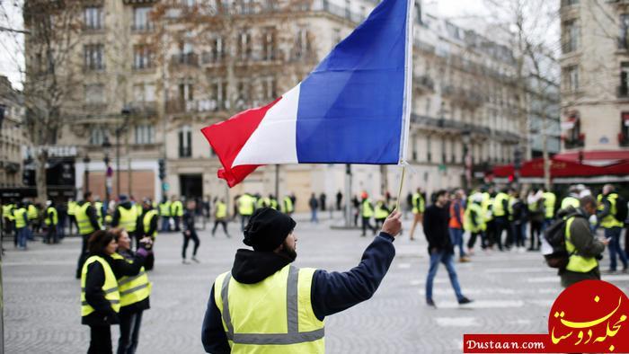 www.dustaan.com جلیقه زردها جاده ها و راه های فرانسه را بستند