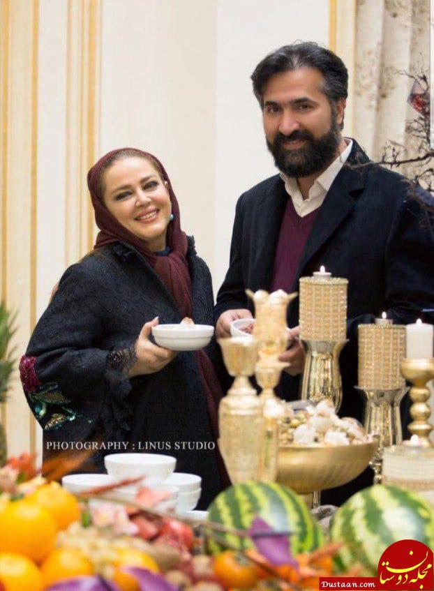 بهاره رهنما و همسرش در شب یلدا +عکس