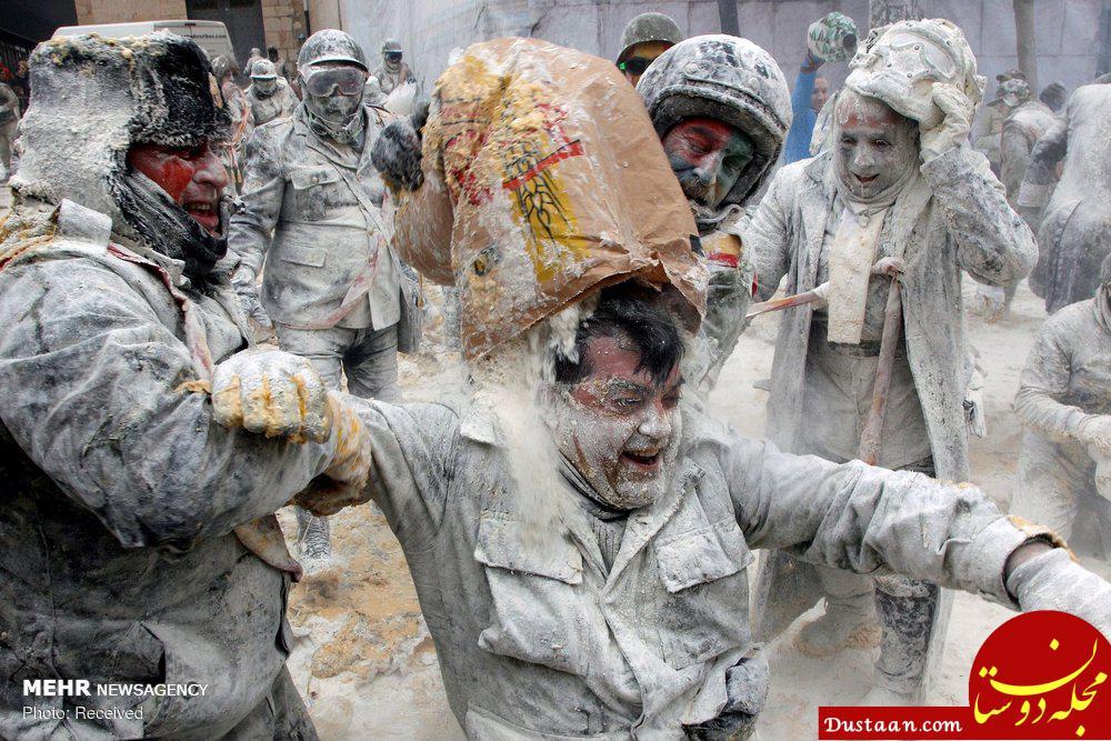 اخبار,اخبار گوناگون,جنگ آرد و تخم و مرغ در اسپانیا