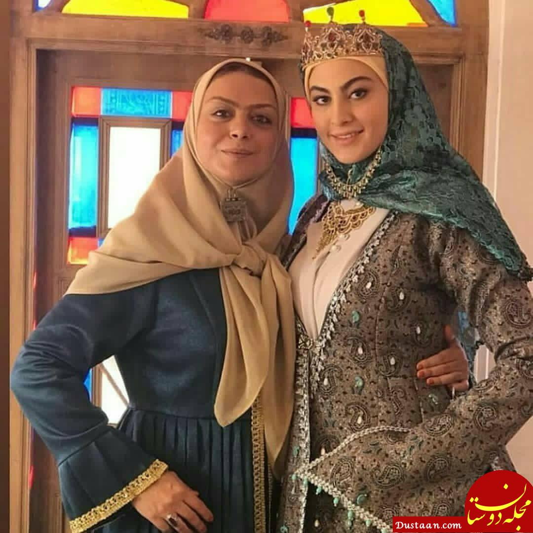 www.dustaan.com عکس های دیدنی از پشت صحنه سریال بانوی عمارت