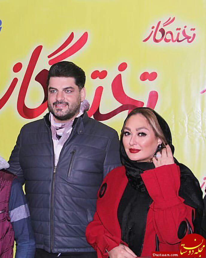 www.dustaan.com الهام حمیدی،رز رضوی و سام درخشانی در اکران مردمی فیلم تخته گاز