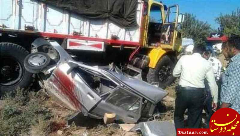 www.dustaan.com تصادف مرگبار پراید با کامیون 8 کشته برجای گذاشت