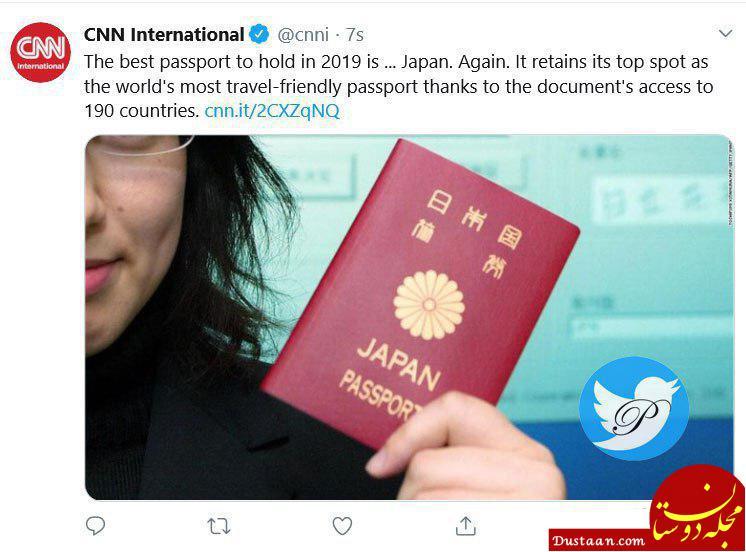 www.dustaan.com ژاپن دارنده بهترین پاسپورت 2019 جهان شد