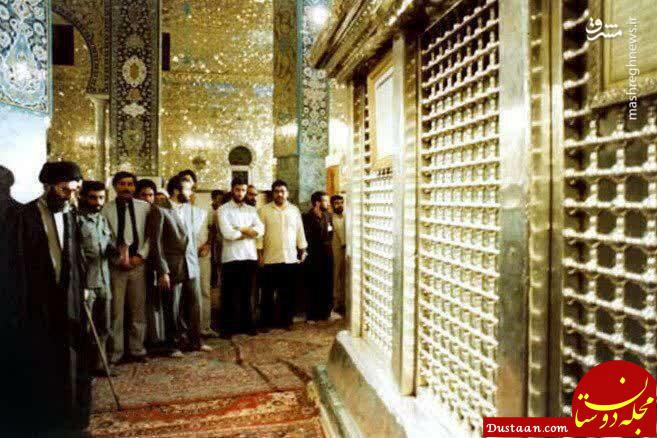 www.dustaan.com رهبر انقلاب در حرم حضرت زینب(س) +عکس