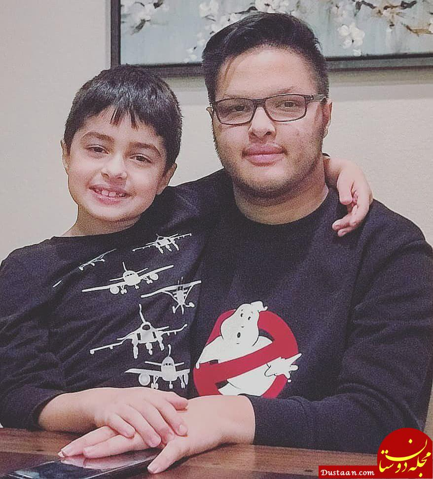 www.dustaan.com پسران شهاب حسینی؛ محمد امین و امیرعلی در یک قاب +عکس