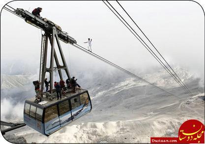 بندباز سوئیسی رکورد زد +عکس