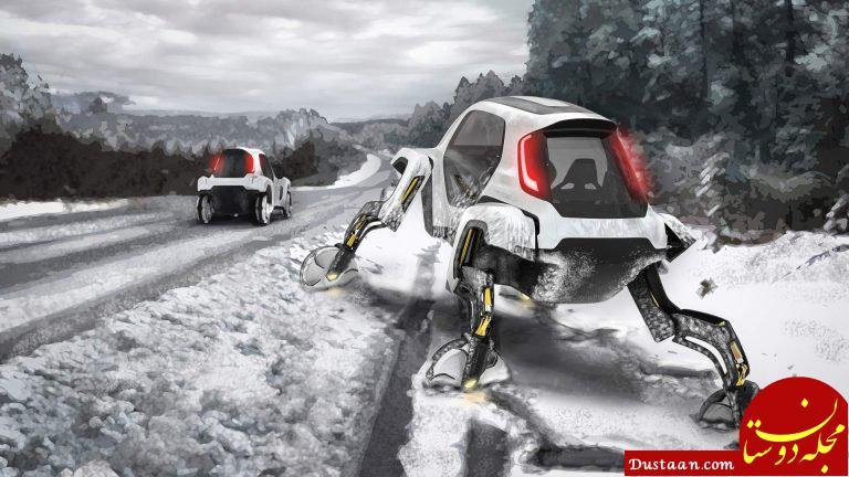 www.dustaan.com این خودرو قادر است قدم بزند! +عکس