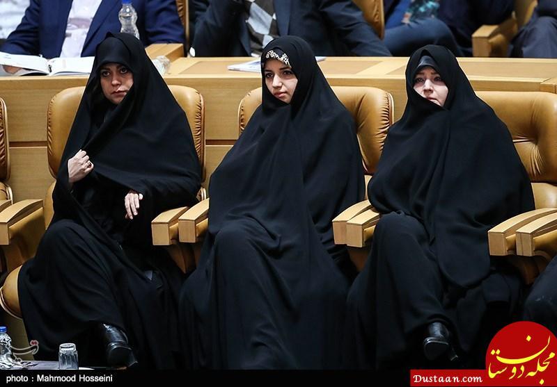 www.dustaan.com دختر روحانی در مراسم سالگرد مرحوم هاشمی +عکس