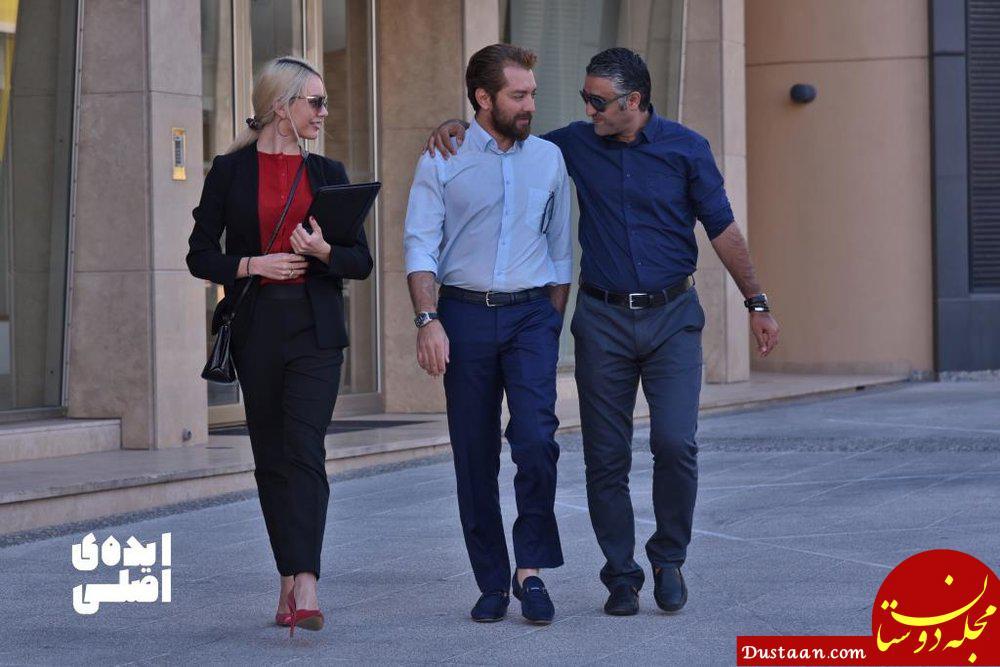 www.dustaan.com بهرام رادان در کنارِ بازیگر زن خارجی +عکس