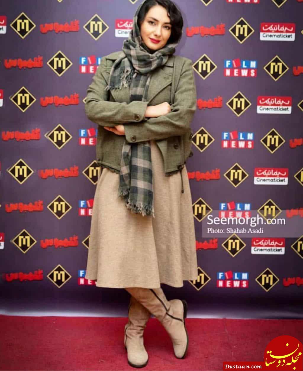 """تیپ متفاوت هانیه توسلی در اکران مردمی فیلم """"کلمبوس"""" +عکس"""