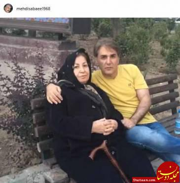 www.dustaan.com مهدی صبایی ، بازیگر سینما در کنار مادرش +عکس