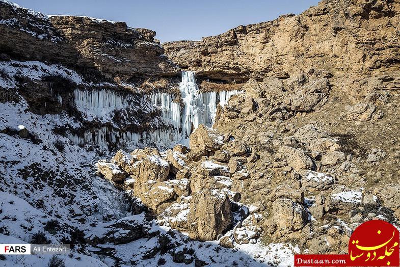 www.dustaan.com عکس های دیدنی از آبشار خور خور در جنوب سلماس