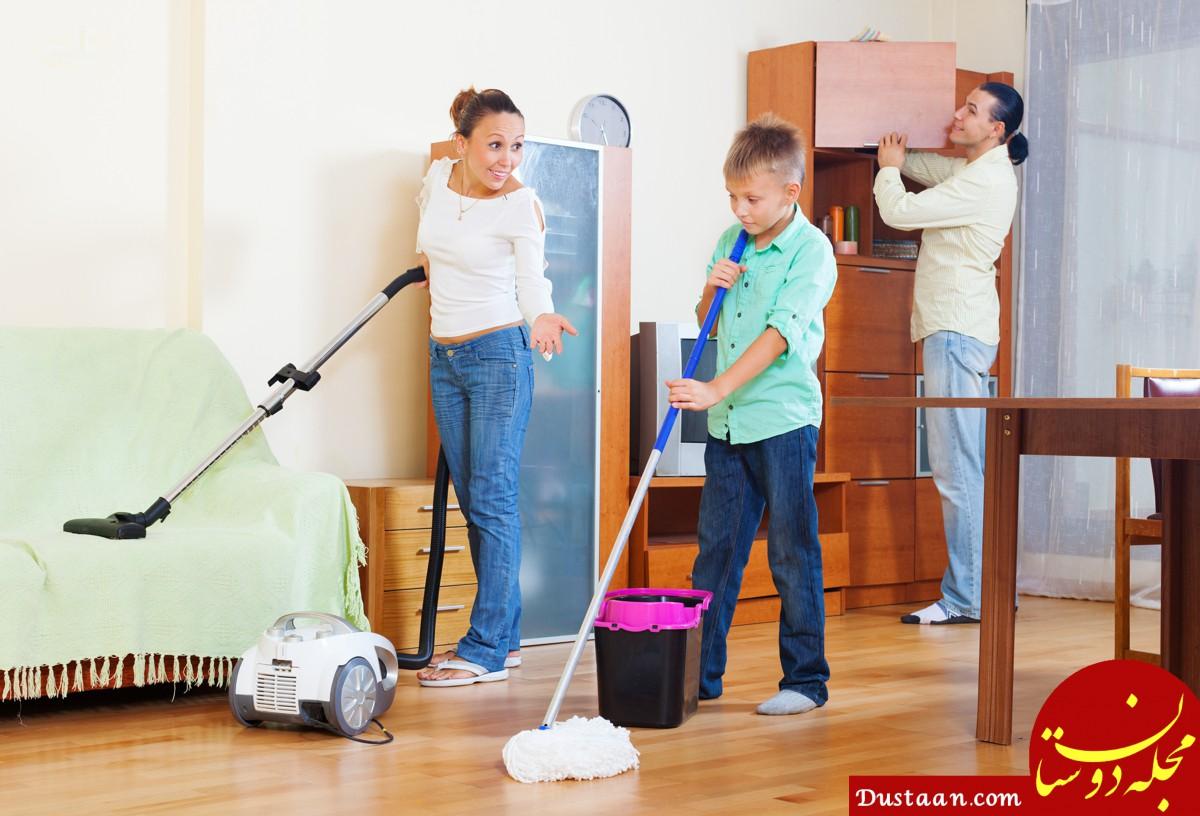 زوج های جوان، کارهای خانه را با هم تقسیم کنند!